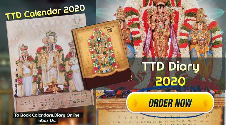 TTD Calendars, Diary Online Booking 2021