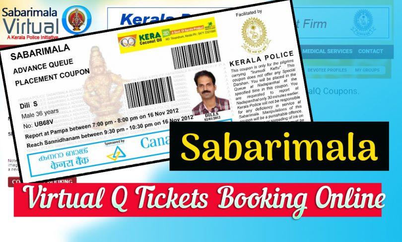 Sabarimala Virtual Q Tickets Booking Online