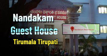 Nandakam Guest House Room Booking Online, Availability Tirumala