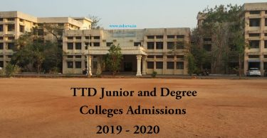 Sri Venkateswara TTD Junior College Admissions Padmavathi Womens Apply Online