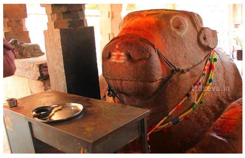 Yaganti Nandi History