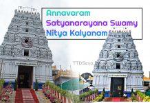 Annavaram Satyanarayana Swamy Nitya Kalyanam