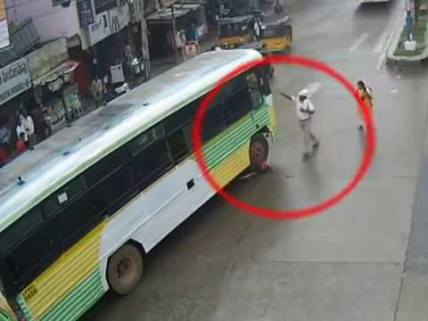 Immediate Response by Police Bus Vs Cyclist Accident Tirupati Traffic Police