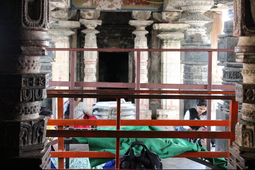Chaya someswara temple pillars